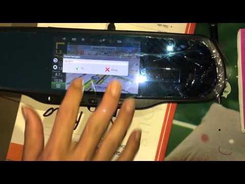 màn hình gương tích hợp camera hành trình chạy hệ điều hành android