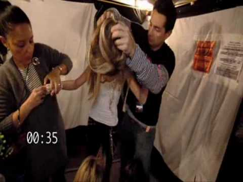 """What Happens when Miley switch with """"Fake Hannah"""" (behind the scene)"""
