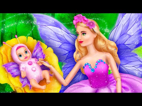 Barbie Butterfly and Her Baby / 11 DIY Baby Doll Hacks and Crafts