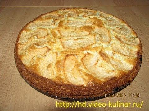 Рецепт шарлотки яблоками сметане фото