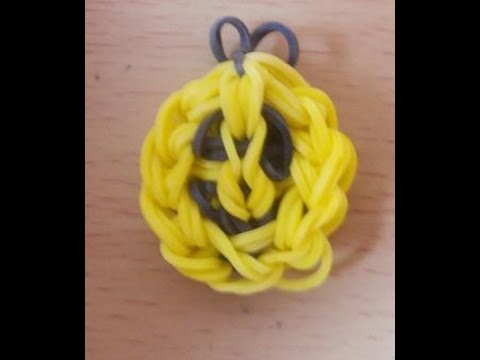 Rainbow Loom Bands Anleitung deutsch – Smiley – Rubber Bandz happy face charm