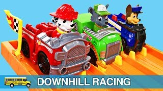 #1 Best Toddler Learning Colors Paw Patrol Racing Hot Wheels Cars for Kids Teaching Children Colours.  Learning Colors for Children & Toddlers on a modified Hot Wheels Cars Super 6-Lane Raceway by Mattel - Organic Learning.  Watch the Paw Patrol - Chase, Rubble, Marshall, Rocky, Zuma, Skye, Everest, and Tracker - as they compete in some fast & furious downhill races to determine the fastest Paw Patrol pup in Adventure Bay. Please take a moment to LIKE our family-friendly video, SHARE it with family & friends, and SUBSCRIBE to our Organic Learning channel… Your help and support are greatly appreciated!  Subscribe to our YouTube Channel:  http://www.youtube.com/subscription_center?add_user=OrganicLearning Follow us on Twitter:  https://twitter.com/OrganicLearningFollow us on Instagram:  https://instagram.com/OrganicLearningOfficial Website:  https://OrganicLearning.com - Fun Toy Giveways, Coloring Downloads, & More.Fan Mail - If you would like us to feature your letter or car/truck drawing in a future episode, please send them to (email) FanMail@OrganicLearning.com or (snail mail) Organic Learning, 2355 Westwood Blvd. #321, Los Angeles, CA 90064 USA.  NOTE:  If you are under the age of 18, please get your parent or guardian's permission before sending fan mail or fan email as it may be shared publicly on our website, social media pages, and in our YouTube videos. Full names and addresses will never be shared.This fun, educational, early learning video features Paw Patrol Racers by Spinmaster, and a modified Hot Wheels Cars Super 6-Lane Raceway by Mattel, to teach kids about the Paw Patrol, colors and numbers.  In this fun Paw Patrol video for kids, children will learn about 8 different Paw Patrol pups:  Chase, Rubble, Marshall, Rocky, Zuma, Skye, Everest, and Tracker.  If you like the Paw Patrol, be sure to check out our popular family-friendly Paw Patrol Learning Colors Video for Children & Toddlers:  https://youtu.be/jSs2ZzFZ2vwHave fun learning colors with more Paw