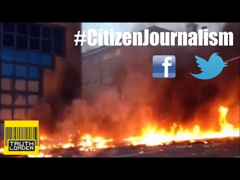citizen journalists - When a helicopter crashed in Vauxhall, London, footage was being filmed within minutes. The pace at which the news then spread through twitter other social n...