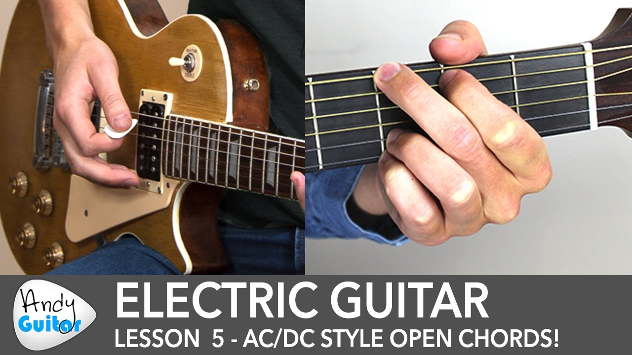 Electric Guitar Lesson 5 – AC/DC Style Chords for Beginners
