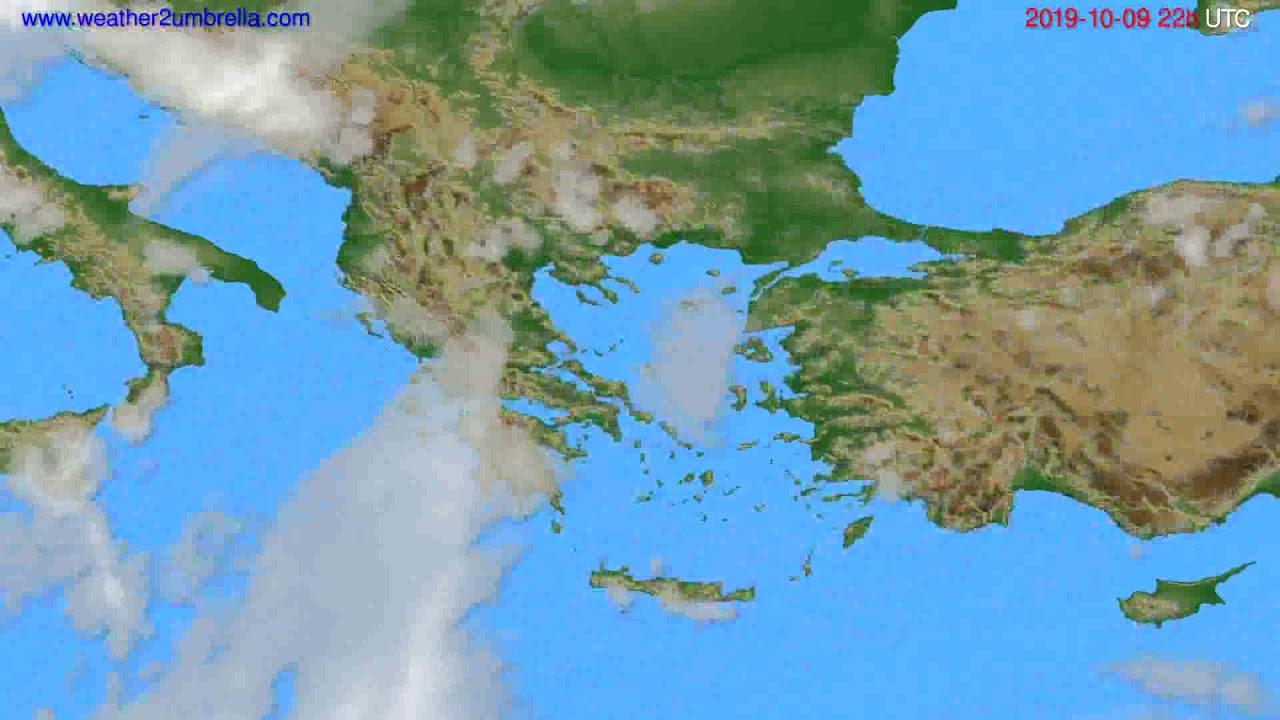 Cloud forecast Greece // modelrun: 00h UTC 2019-10-07