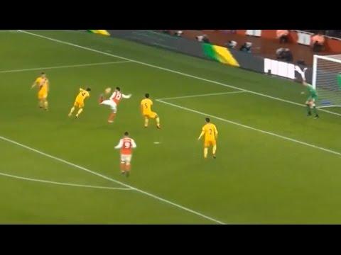 Olivier Giroud Scorpion Kick Goal - Arsenal VS Crystal Palace