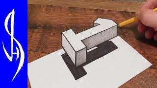My Optical Illusion Book on Amazon!  (step by step guide on how to draw mind bending optical illusions)https://www.amazon.com/dp/1633223558https://www.amazon.co.uk/dp/1633223558How to draw a 3D floating number one optical illusion.  Trick art drawing on paper.  Very easy and fun step by step guide for kids and adults of all ages.Materials used:  110lb cardstock, HB graphite pencil, Sharpie marker pen, scissors, kneaded eraserThank you for watching!WEBSITE:    http://www.jonathanstephenharris.comFACEBOOK: https://www.facebook.com/Jonathan.Stephen.HarrisFACEBOOK: https://www.facebook.com/JSHStudioGalleryINSTAGRAM: http://instagram.com/jonathanstephenharrisSAATCHIART:   http://www.saatchiart.com/jsh