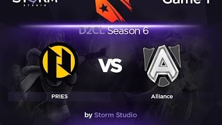 Alliance vs PRIES, game 1