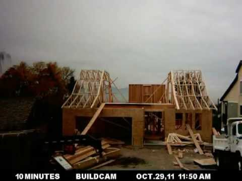 Timelapse building of house Aug 13  – Dec 4, 2011