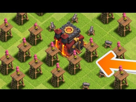 "Clash Of Clans - WORST BASE IN HISTORY! ""WTF!"" Destroying Horrible Clash Of Clans Base! (CoC Troll!)"