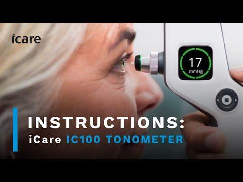 Icare ic100 Tonometer Instruction video
