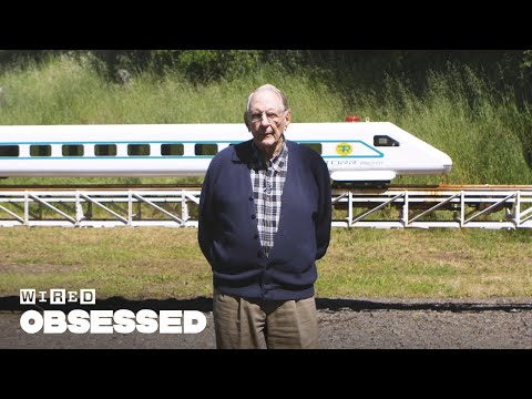 89YearOld Retired Engineer Builds a Giant Train Set in His Mendocino California
