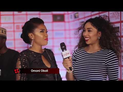 at the Premiere of 'Royal Hibiscus Hotel' Nollywood Movie with Zainab Balogun, Jide Kosoko
