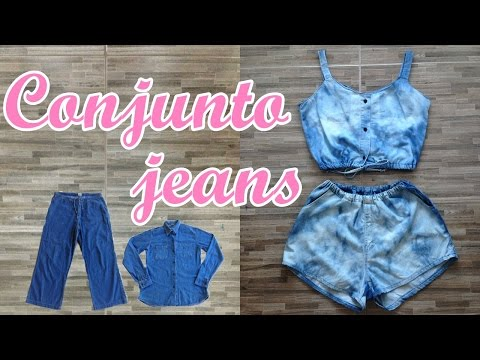 Conjunto jeans customizado