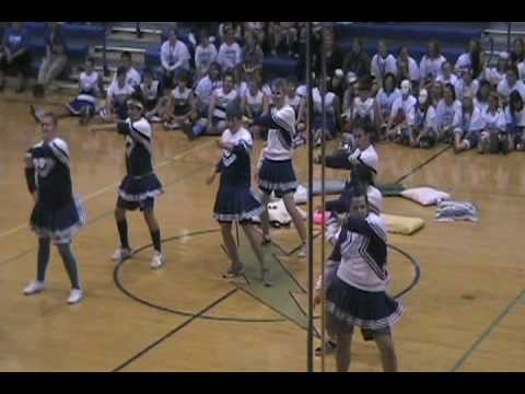 HILARIOUSLY AWESOME DANCE by Carroll Junior Powder Puff Cheerleaders 2008-2009