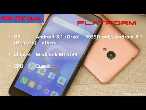 Mobile specifications: Alcatel 1X