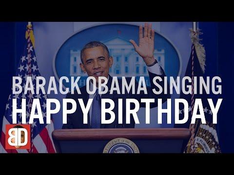 Barack Obama Singing Happy Birthday