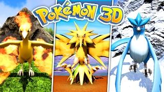 omg  getting the legendary birds  pokemon 3d ark 8