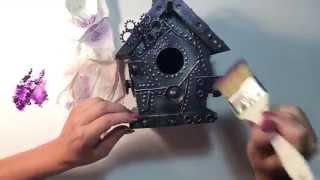 Faber Castell Design Memory Craft : Steampunk altered birdhouse