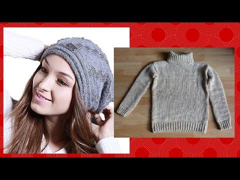 come ricavare un cappello da un vecchio maglione