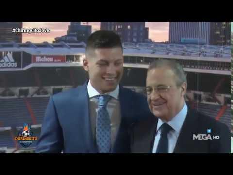 Lo que no se ha visto de la presentación de Luka Jovic en el Bernabéu