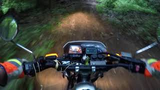 7. Yamaha TW200 six minute Review / Ride 5-31-18 on Trail.