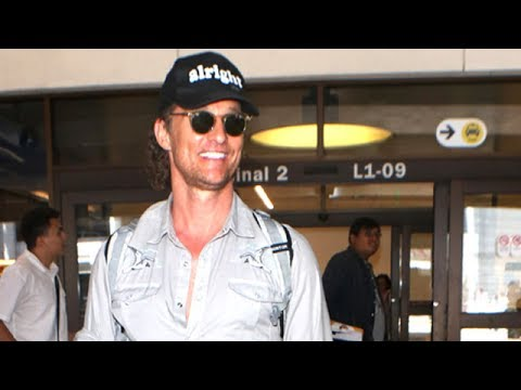 Matthew McConaughey Returns To LA After Wrapping White Boy Rick