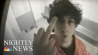 Boston Bomber Tsarnaev's Obscene Gesture Shocks Court   NBC Nightly News
