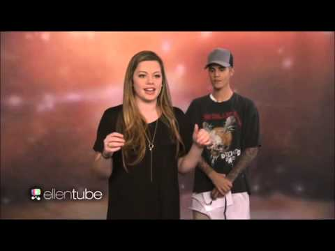 Justin Bieber at The Ellen Show take Surprises Superfans (видео)