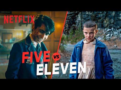 Five vs. Eleven   The Umbrella Academy & Stranger Things Kid Showdown   Netflix