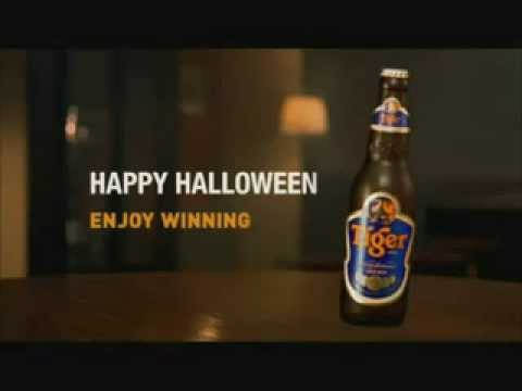 Funny Tiger Beer Happy Halloween Commercial TV Advertisement Singapore 2009 Enjoy Winning Campaign