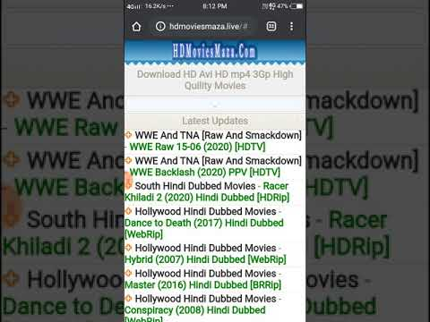#hdmoviesmaza Hollywood movies, south dubbed, WWE, Bollywood, Punjabi, all new for free, download