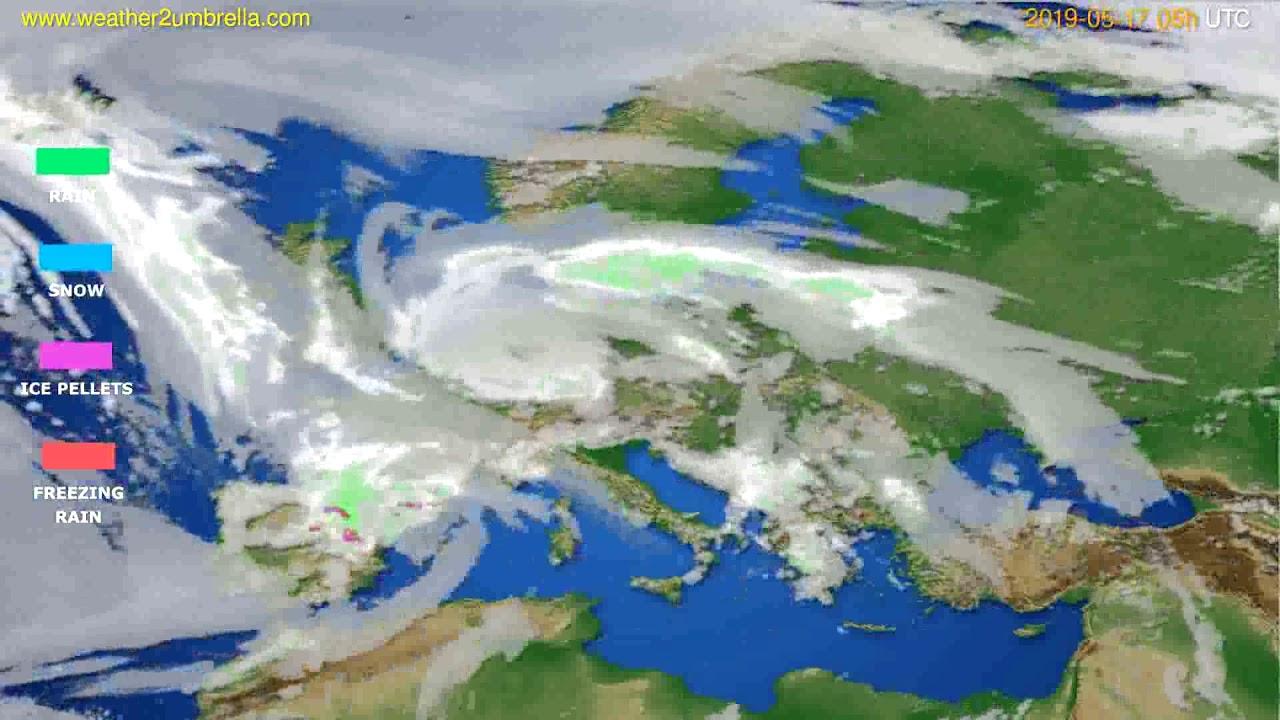 Precipitation forecast Europe // modelrun: 00h UTC 2019-05-15