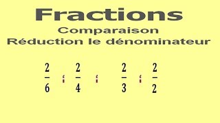 Maths 6ème - Fractions comparaison et réduction le dénominateur Exercice 3