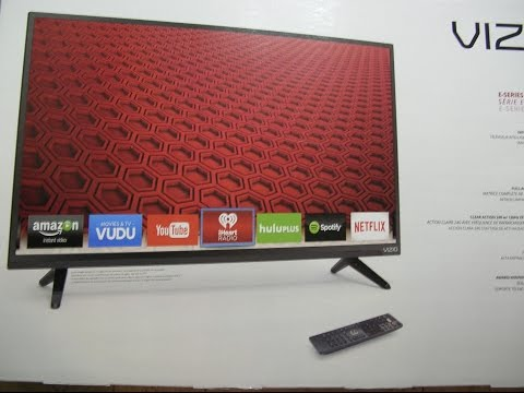 VIZIO E32-C1 32-Inch 1080p Smart LED TV unboxing and setup