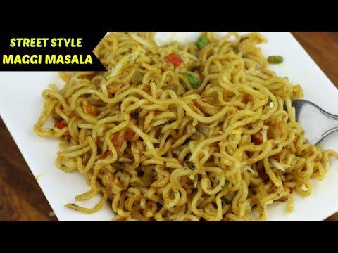 Video Masala Maggi Recipe | Maggi banane ki recipe in Hindi | Indian Street Style Veg Maggie Noodles | download in MP3, 3GP, MP4, WEBM, AVI, FLV January 2017