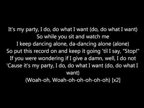 Jessie J It's My Party Lyrics
