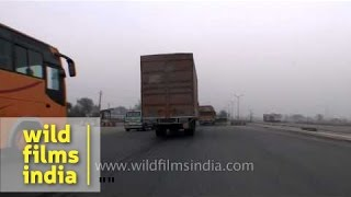 Behror India  City pictures : Behror in Rajasthan to Delhi: driving video
