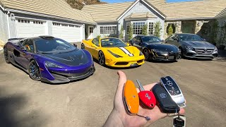 COMPLETE TOUR OF MY SUPERCAR COLLECTION! by Vehicle Virgins