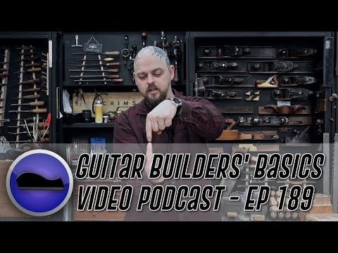 How to route a binding channel on a through neck guitars back – Guitar Builders Basics Episode 189