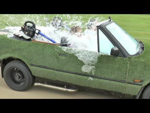 Crazy Inventor Colin Furze Creates a Drivable Hot Tub