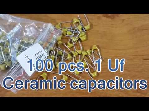 100 pcs  1uf Ceramic capacitors from Banggood
