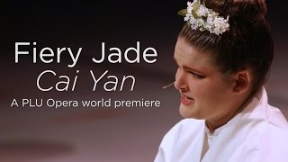 PLU Opera presents the world premiere of Fiery Jade - Cai Yan with music by Gregory Youtz and a libretto by Zhang Er. The story of the legendary Chinese woman poet Cai Yan who was born in 177 AD at the war ridden, violent end of the Eastern Han Dynasty. It captures dramatic scenes of a woman's life in peace and in war, as a daughter, wife, mother, poet, and musician.