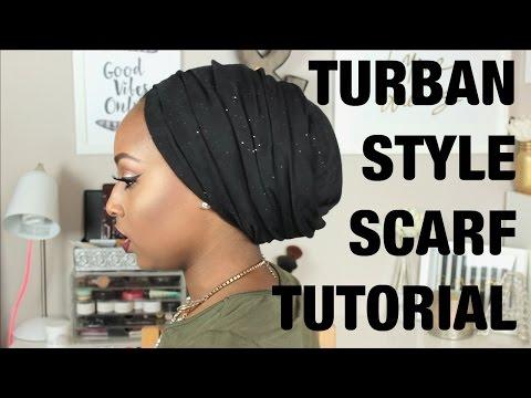 Tutorial - Turban Style Scarf