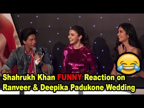 Shahrukh Khan FUNNY Reaction on Ranveer and Deepika Padukone Wedding Anniversary