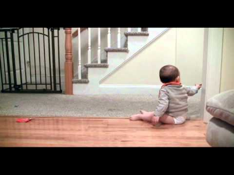 Adorable Giggling Baby and His Clever Dog Playing