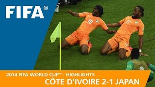 Video CÔTE D'IVOIRE v  JAPAN (2:1) - 2014 FIFA World Cup™ MP3, 3GP, MP4, WEBM, AVI, FLV September 2018