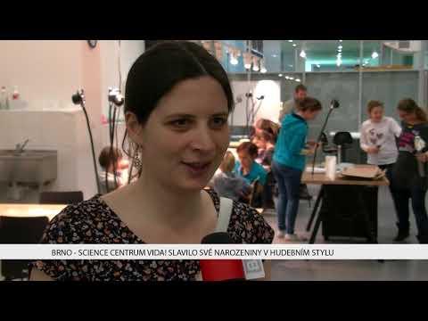 TV Brno 1: 4.12.2017 Science centrum VIDA slavilo své narozeniny v hudebním stylu
