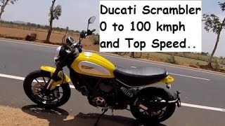 Ducati Scrambler Top Speed Kmph