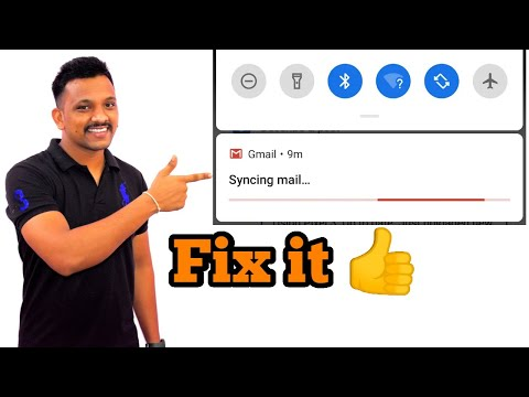 how to fix sync problem in gmail app | Remove syncing mail notification |